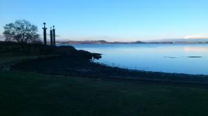 """Smukt og kald vær fra """"Sverd i Fjell"""" på Madla. Bilde er tatt kl. 07."""