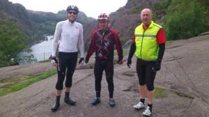 Jens, Sture og Reidar ved Jøssingfjord.